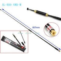 Wholesale antenna AL SMA M W Dual Band VHF UHF144 MHz AL800 for walkie talkie Baofeng UV3R PX R YAESU VX R VX R VX R TH UVF9
