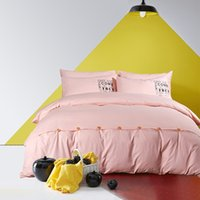 Wholesale Bedding Sets with Button Reactive Printing Duvet Cover Bed Sheet Set Bed Linen Full Queen King Size