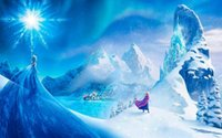 One Panel animation cartoon picture - The Beautiful Snow Scene about Frozen d animation film Picture Printed on Canvas Modern Art Picture Home Living Room Wall Decor