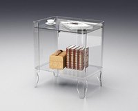 antique white coffee table - Clear Acrylic book case lucite bedside drawer table black white clear coffee table with book storage