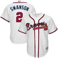 atlanta sporting goods - Dansby Swanson Jersey Atlanta Braves Men s Shirts Sport Embroidery Logo Stitched Custom Jerseys Good Quality