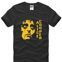 alice cooper - Alice Cooper T Shirt Men New Summer Short Sleeve Cotton Rock Punk Men T shirt Tees Camisetas Hombre