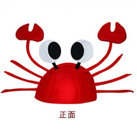 Wholesale Funny crab hat carnival Festival decoration crab lobster head dress adult children christmas hat Dionysia Karneval hat