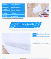 bathroom double - Thickened bamboo fiber dishwashing cloth double layer non stick oil easy to clean