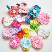 artificial boy - knot headband Lovely Artificial Roses Pearls Hair Bands Vintage Flowers Pretty Infant Headbands beautiful baby girls boys hair accessories