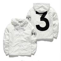 achat en gros de vêtements hip-hop-Designer Veste Hommes KANYE Hip Hop noir blanc Windbreaker Vestes Hommes Femmes Streetwear Mode Vêtements d'extérieur manteau hommes vêtements
