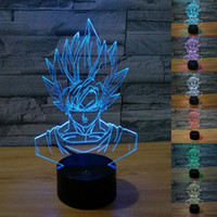 baby dragons - 3D Dragon Ball Night Light Baby Light Strongest Sun Wukong Optical Illusion Night Lights Desk Table Lamp Various Shape
