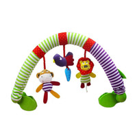 achat en gros de arc de poussette-Wholesale- New 2017 Baby Cribs Rattle Babyplay Baby Hand Bell Multifonctionnel Plush Toy Stroller Mobile Gifts arc infantile