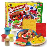 Wholesale Color Clay Dough set Funny Children Toys sandwich Free Tools and Accessories For Kid the best gift for children Middle