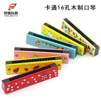 Wholesale Manufacturers selling wooden children early childhood educational toys wooden harmonica hole harmonica yuan shop supplies