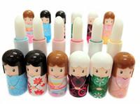 Wholesale Cute Lovely Kimono doll Brand Makeup Lipstick Women Beauty Professional Cosmetic Lipstick Makeup lipgloss Free DHL shipping