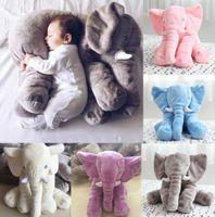 al por mayor juguetes de peluche-Bebé Niños Elefante Almohada Lumbar Muñeca Larga Muñeca Almohada Plush Suave Juguetes 23.6 * 17.7 * 9.6 Pulgadas