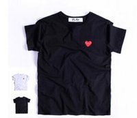 Wholesale Play Games Kawakubo Red Heart Men Lovers Printed T Shirt solid short sleeve plus