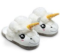 b mean - Unicorn slippers white cotton home mean winter warm Christmas dress comfortable indoor slippers slippers flat