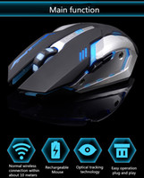 Wholesale Rechargeable Wireless Gaming Mouse color Backlight Breath Comfort Gamer Mice for Computer Desktop Laptop NoteBook PC