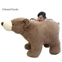 Géant ours brun stuff toy France-Jouet gigantesque en peluche pour ours polaire Big Soft Farcou Brown White Bears Doll 3 tailles Nice Gifts for Children