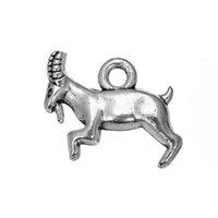 18 * 12.3 argent antique plaqué chapeaux de capricorne de chèvre de Billy bijoux de nature de bricolage faisant pour le bracelet ou le collier Vente en gros 30pcs