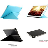 For Apple Business 7'' Wholesale-Ultra Slim Folio PU Leather Transformer Case Cover Stand For HuaWei MediaPad T1 8.0 inch S8-701U S8-701W Tablet PC