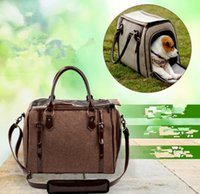 airline carriers for dogs - classic Newly Pet Dog Airline Travel Carrier Bag Soft Linen Breathable Mesh Bed For Dog Cat