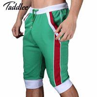Men baseball boxers - WJ brand men shorts cotton beach boxer sexy Man wear baseball Man capri designer Man new shorts gay Trunks Fashion Shorts
