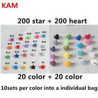 Wholesale sets Star sets Heart KAM T5 Star heart Plastic Snaps Buttons Fasteners snaps kam stars for baby diaper cloth nappy