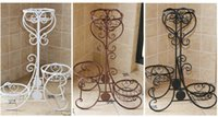 Wholesale NEW Flower Pot Plant Shelf Stand Modern Style Wrought Iron Planter Shelves Three Colors Available Shelves