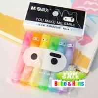 Wholesale New cute Ninja Rabbit fluorescent pen Color Highlighter marker pack