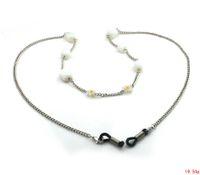 Wholesale GL162 pc fashion hot sale luxury women eyewear products white opal stone eyeglass chains