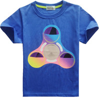 England Style Round Neck Unisex Boys girls fidget triangle Spinner T shirt 3 Color New Children cartoon cotton Short sleeve T-shirt baby kids clothes DHL Shipping