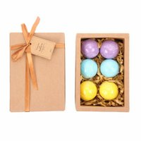 Wholesale 6 pack Scents Eucalyptus Lavender Orange Handmade SPA Bath Fizzies Best Relaxation Organic Natural Bath ball Bombs