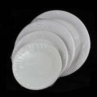 Wholesale EZLIFE Inch Inch Inch Inch Disposable white paper plate paper plates cake pan piece KT0772