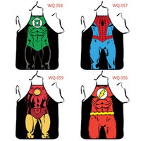 Polyester best funny costumes - 2016 Comic Costume Character Novelty Sexy Funny Kitchen BBQ Cooking Apron Spider man Hulk Best Christmas Gifts