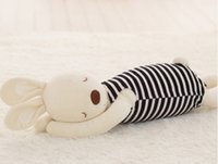 baby mating - Lying Posture Rabbit Plush Stuffed Toy Price Hot Seller Baby Sleep Mate Children Birthday Gift And Retail HANCHENMED