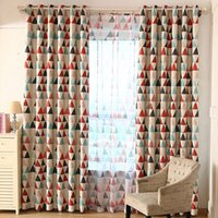 bay curtain - Children curtain shade boy girl room fresh bedroom living room bay window short curtains finished floor windows