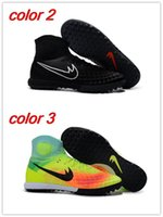 Wholesale Men ankle Football Boots ProXIMo MercurialX CR7 Shoes Magista Obra orden II AG FG Soccer Cleats Hypervenom Superfly indoor turf IC TF