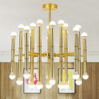 al por mayor 18 lámparas de araña moderna-18 cabezas colgantes moderno llevó lámparas de araña colgante para la sala de estar comedor decoración del hogar AC85-265V colgante llevó lámpara de araña