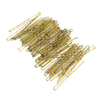 Wholesale Styling Tools Hair Clips Set Metal Thin U Shape Hairpins Golden Women Bobby Pins Hair Clips for Beauty Hair Styling Tools Size
