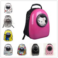 Wholesale 2017 New Hot Space Capsule Shaped Pet Carrier Breathable Pet Backpack PC Pet Dog Outside Travel Bag Portable Bag Cat Bags