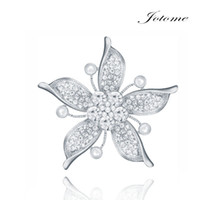 Wholesale 100PCS Factory Direct Custom Women Wedding Brooch Alloy Rhinestone Korean CC Brooch Pins