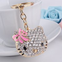 ball boy shoes - Bling Bling Crystal Rhinestone Hello Kitty Monkey High heeled Shoes Metal Alloy Keychain Key Chain Keyring Car Keychains Handbags Pendant