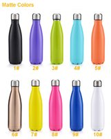 Wholesale Cola Shaped Stainless Steel Insulated Double Wall Vacuum high luminance Water Bottle oz ml Creative Thermos bottle Vaccum Insulated