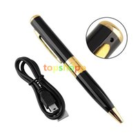 Wholesale HD Surveillance Spy Pen Hidden Camera Camcorder Mini DV DVR Video Recorder Detector Pinhole Support TF Card without retail package
