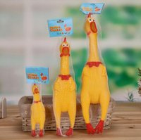 Wholesale Big and small screaming chicken Funny Toys Trickster screaming chicken release stress hot selling size screaming chicken