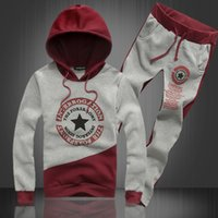 big funding - Hooded fleece suit New fund autumn outfit five pointed star big size sport suit men s clothing