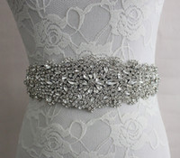 Rhinestone accessories images - 2017 Real Image Wedding Dresses Sash Bridal Belts Rhinestone Crystal Ribbon Tie Back Bridal Accessories Princess Handmade Fashion