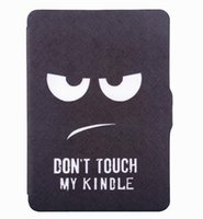 For Apple amazon kindle touch - case for Amazon kindle paperwhite touchscreen ereader smart case cover pu leather case Don t touch my kindle