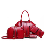 Wholesale 2016 Hot Newest Wax oiled Genuine Leather Women Handbag Shoulder Crossbody Bag For Ladies Handbag Messenger Bag Purse Wallet Sets