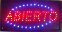 Wholesale 2016 business hot selling high quality electronic animated indoor LED open abierto sign LED neon Sign size inch