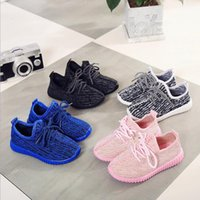 baby synthetics - Hot Sale Kanye West Boost Kids Boost Children Athletic Shoes Boys Running Shoes Girl s Casual Shoes Baby Kids Sneakers Size