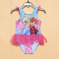 Wholesale 2 year old conjoined skirt style swimsuit swimsuit swimsuit girls frozen